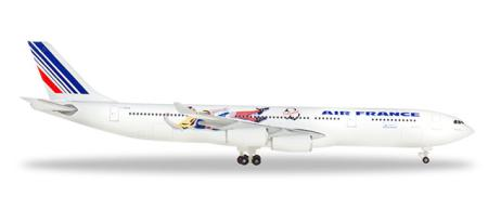 Herpa Wings Flugzeugmodell Air France Airbus A340-300 1998 Brazil-Columbia (1:500)