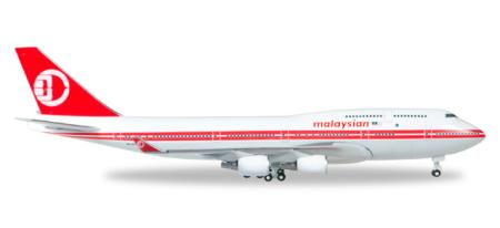 Herpa Wings Flugzeugmodell Malaysia Airlines Boeing B747-400