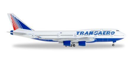 Herpa Wings Flugzeugmodell Transaero Airlines Boeing B747-4 (1:500)