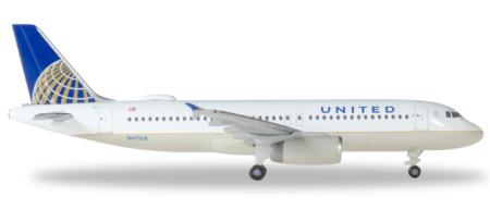 Herpa Wings Flugzeugmodell United Airlines Airbus A320 (1:500)
