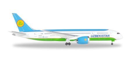 Herpa Wings Flugzeugmodell Uzbekistan Airways Boeing B787-900 Dreamliner (1:500)