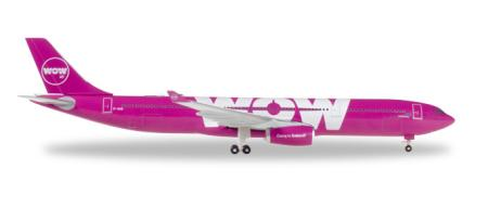 Herpa Wings Flugzeugmodell Wow Air Airbus A330-300 (1:500)