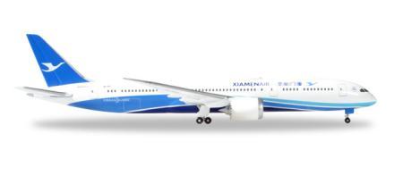 Herpa Wings Flugzeugmodell Xiamen Air Boeing B787-900 Dreamliner (1:500)