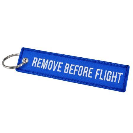 Schlüsselanhänger REMOVE BEFORE FLIGHT blau
