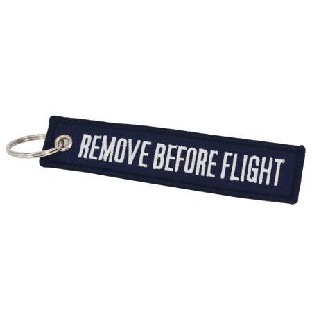 Schlüsselanhänger REMOVE BEFORE FLIGHT dunkelblau
