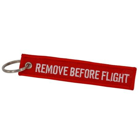 Schlüsselanhänger REMOVE BEFORE FLIGHT rot