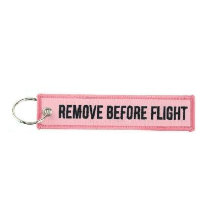 Schlüsselanhänger REMOVE BEFORE FLIGHT pink