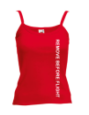 "Oberteil Top Frauen Small ""REMOVE BEFORE FLIGHT"" rot"